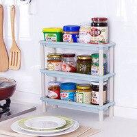 Kunststoff 3-schichten Küche lagerregal, Bad lagerung inhaber Kunststoff-abstellflächen kleinigkeiten halter racks