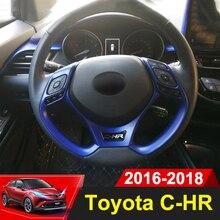 Стайлинга автомобилей Руль блёстки стикеры накладка s Интерьер Литье для Toyota C-HR CHR 2016 2017 2018 интимные аксессуары