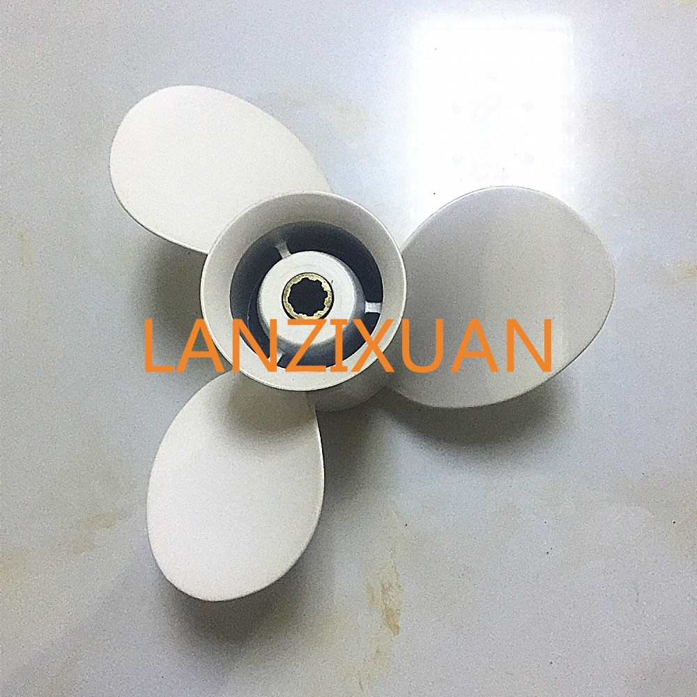 Boat Engine Aluminum Propeller 9 1/4x11-J for Yamaha 9.9HP 15HP Outboard Motor 9 1/4 x 11 - J , Fit Hidea Parsun 15hp Outboard electric outboard engine fishing boat propeller with outboard engine 12v 684w1750 rotationl speed dc motor