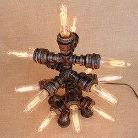 Книги по искусству деко черный мастерской 13 Огни настольная лампа E27 старинные блеск стол свет бра для изучения прикроватная тумбочка для с