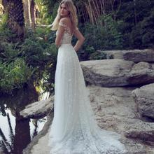 NOBLE BRIDE Wedding Dress 2019 Boho A-Line V-Neck