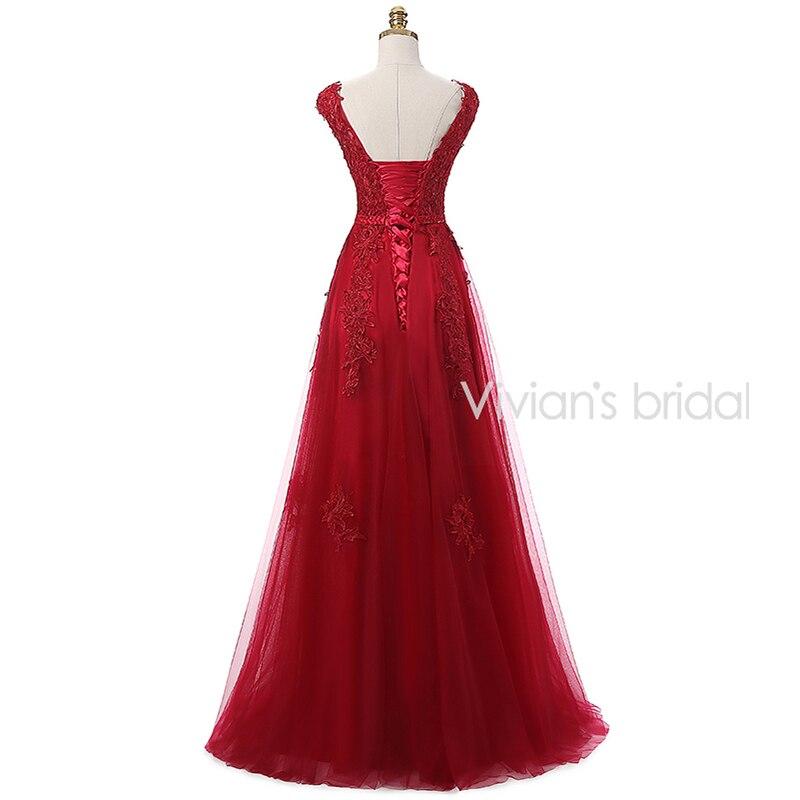 Vivian's Bridal Burgundy Sexy Kjole Kjole Lang 2016 Couture Formell - Spesielle anledninger kjoler - Bilde 4