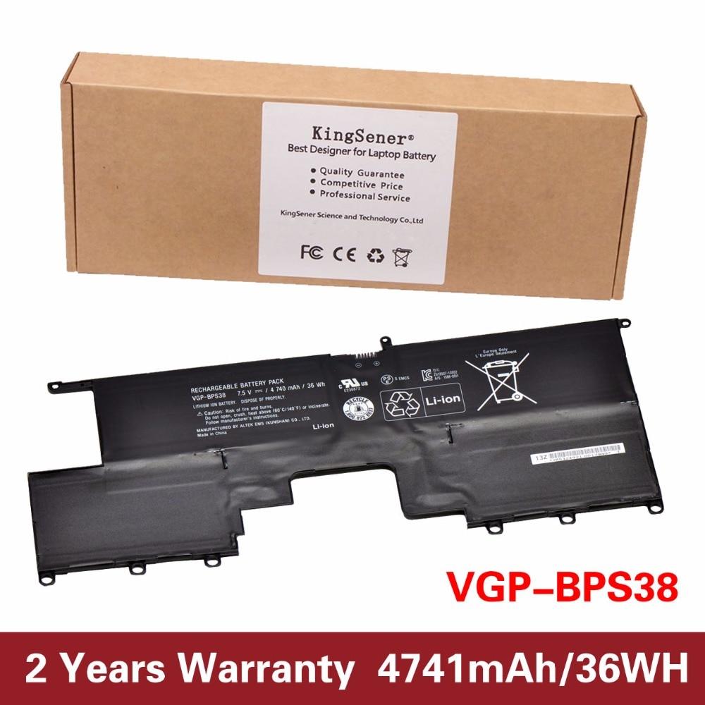 ФОТО Original New VGP-BPS38 Laptop Battery for SONY VAIO Pro 13  Pro11 SVP1321BPXB SVP13216PG SVP132A1CM SVP11217SCS 7.5V 4740mAh