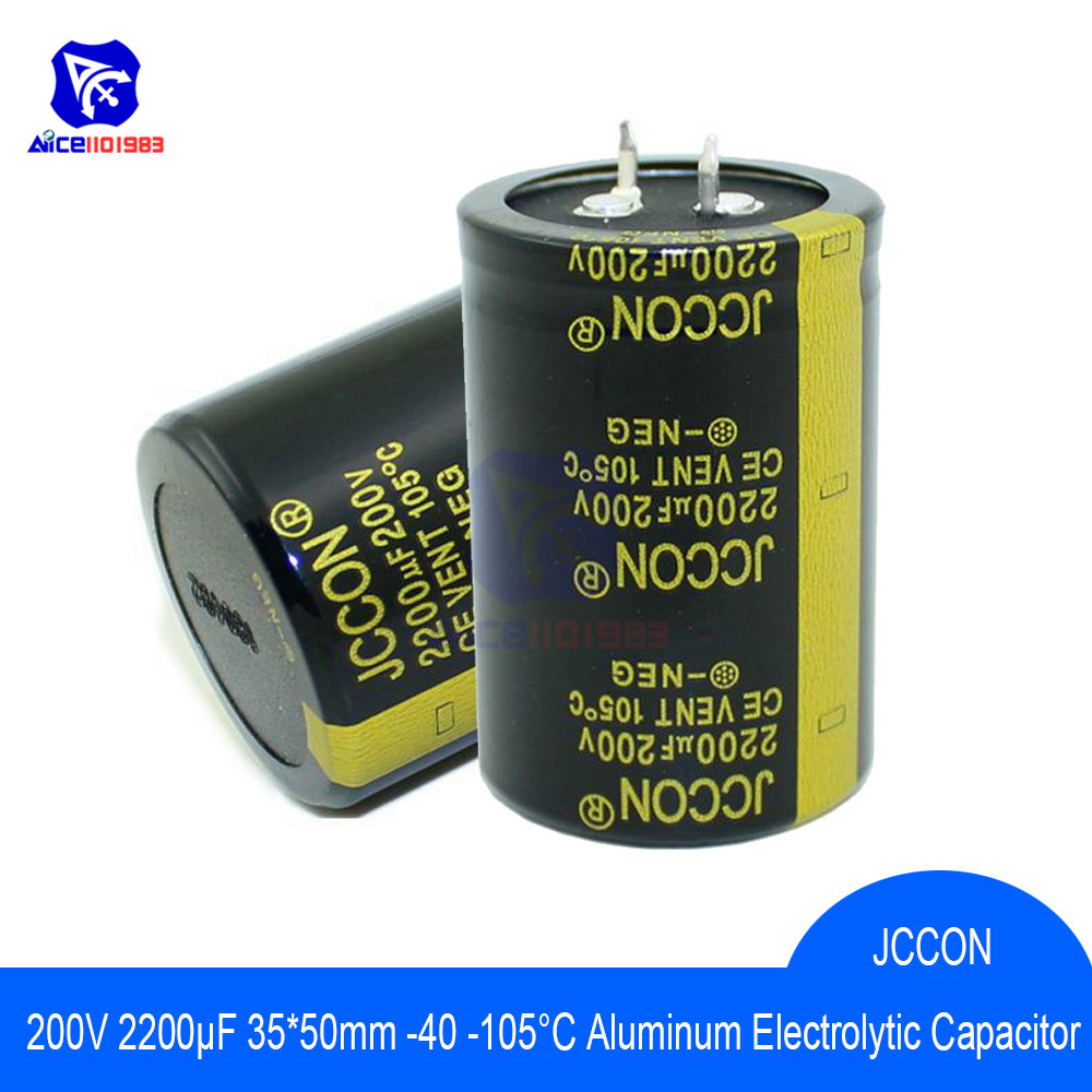 Aluminum Electrolytic Capacitor 200V 2200uF 35x50mm High Frequency Low ESR 200V2200μF 35*50mm Capacitor