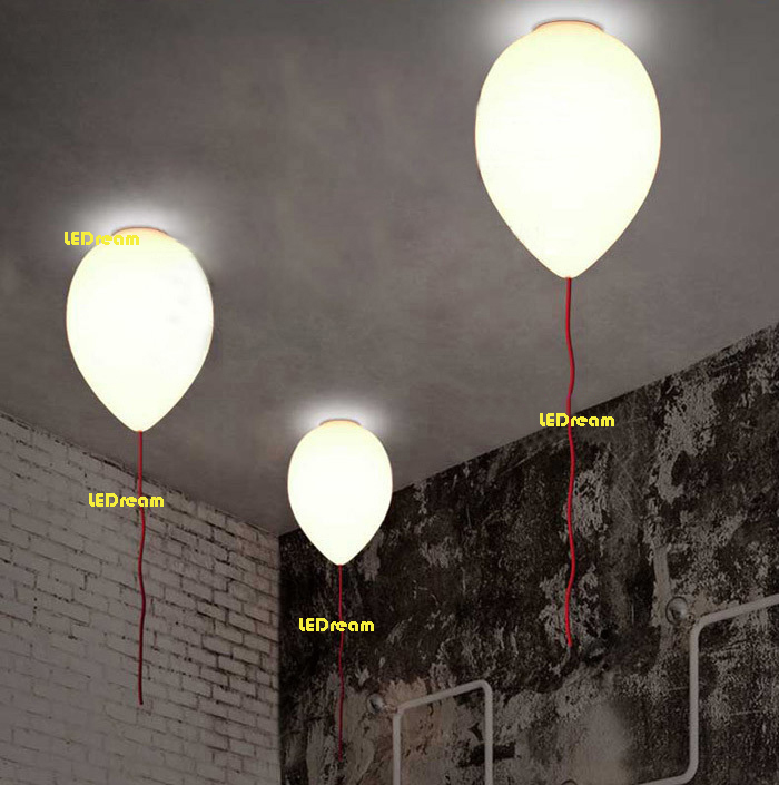 ФОТО Creative dining-room of Europe type contracted study bedroom balcony Small children room balloon absorb dome light