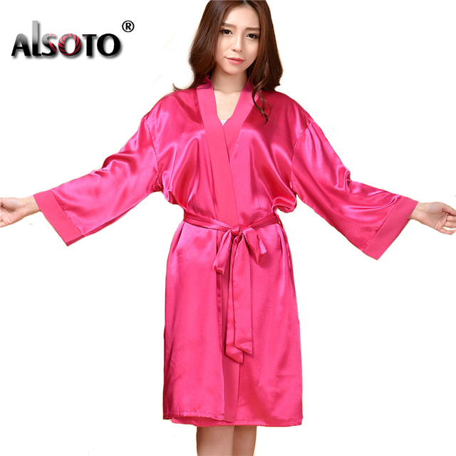 Summer Style Women Nightgowns Sexy Long Sleeves Sleepwear Artificial Silk Loose Comfortable nightclothes Chemise De Nuit