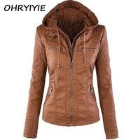 OHRYIYIE Plue Size 7XL Leather Jacket Women 2018 Autumn Winter Outerwear Coat Lady PU Leather Clothing