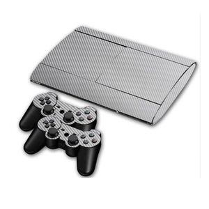 Image 5 - Carbon Fibre Vinyl Skin Sticker For Sony PS3 Super Slim 4000 Console and 2 Gamepad Controller Skins Cover Controle Skin