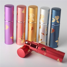 Sex Pump 10ml Parfum Spray Scent Bottle Empty Travel Refillable Perfume Atomizer Aluminum Glass Perfume Bottle(China)