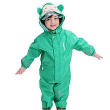 Cute Animal Monkey Style Baby Jumpsuits Rain Coat Waterproof Polyester Raincoat Children Rainwear And Pants Suit For Kids
