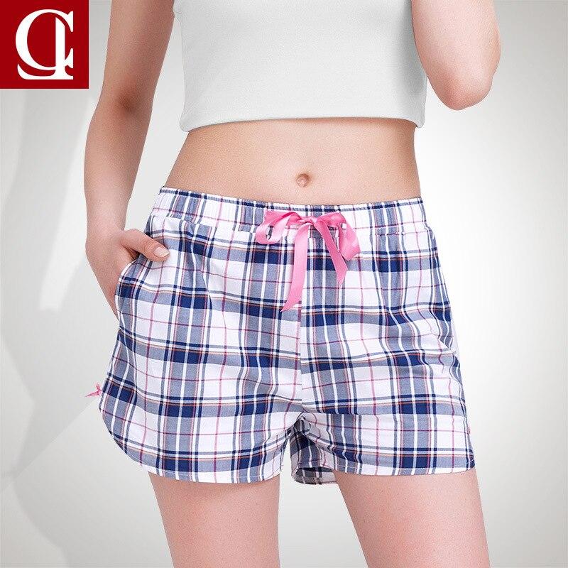 Summer Print 100% Cotton Pajama Shorts Women Loose Summer Print Pajama Shots Sleepwear Bottoms