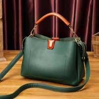 Vintage Frauen Aus Echtem Leder Handtasche Schulter Tasche Hohe Qualität Designer Luxus Marke Boston Messenger Umhängetaschen Neue T30