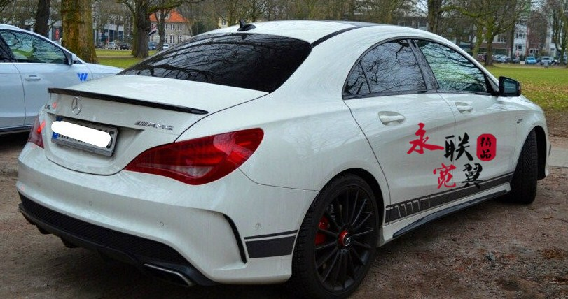 Fits Mercedes GLA X156 Mirror Caps CLEAR Stone chip Paint Protection Film 45 AMG
