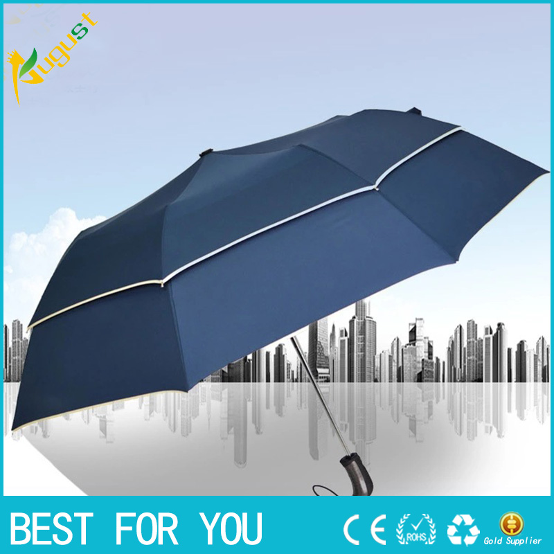 Personalized double-layer golf folding umbrella creative large sunny business gift advertising umbrella