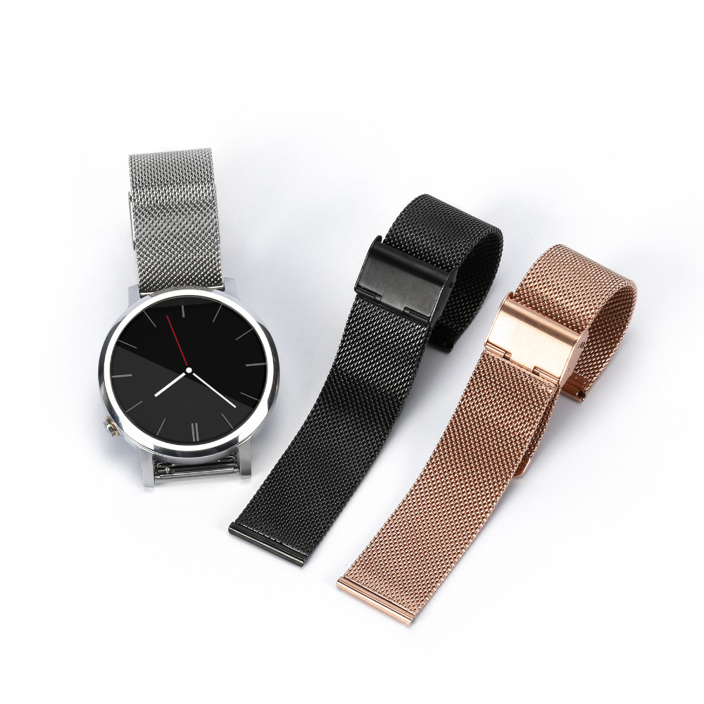 Milanese Stainless Steel Watch Bands strap for Moto 360 2nd Generation smart watch 42mm/46mm for Samsung Gear S2 CLASSIC SM-R732 20mm watch band milanese mesh stainless steel strap bracelet for samsung gear s2 classic sm r7320 moto 360 2 2nd gen 42mm 2015