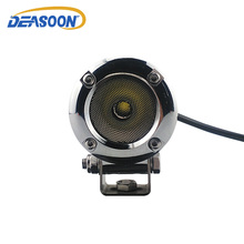 2pcs Chrome Motorcycle Front Headlight 10W LED Spot Light Car 2 Inch DRL LED Headlights Spotlights All For Bicycle Housing IP68