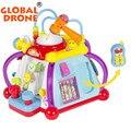 Bebê iluminação toys cubo atividade musical play center com luzes, 15 funções & habilidades de aprendizagem & educational toys para crianças