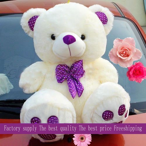 wholesale and retails 70cm Christmas gift teddy bear plush toys soft stuffed toys factory supply freeshipping