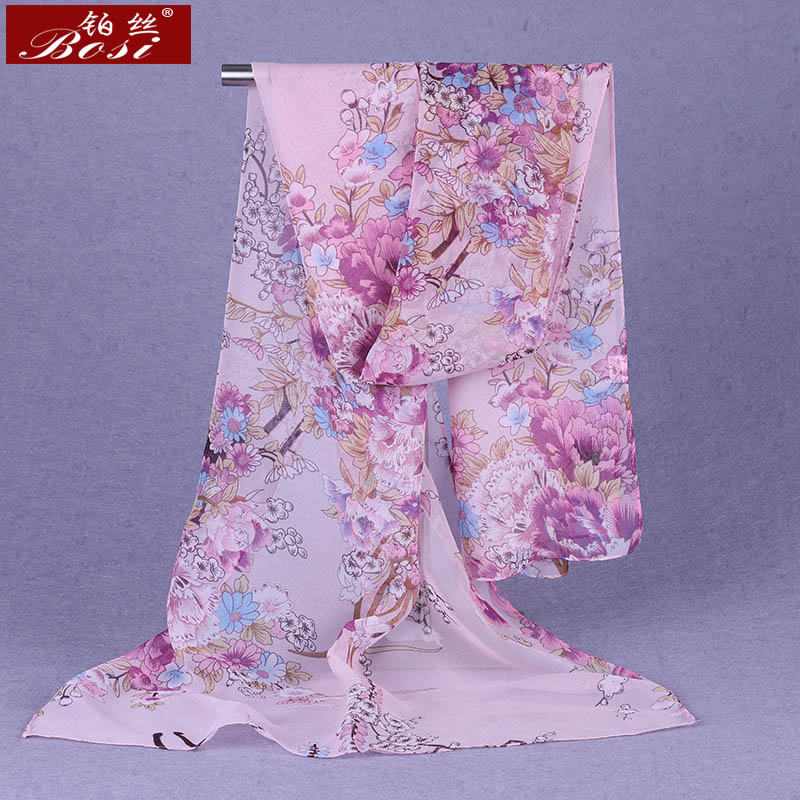 100% silk feel print Scarf Fashion hijab Shawls women scarves wrap Hijab cape female luxury brand stoles Floral muslim wrap