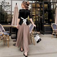 New Trendy Two Piece Set Top And Pants Brief Wild Ensemble Femme Survetement Fashion Sweet Retro Summer Costumes For Women