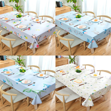Waterproof Anti-scalding Oilproof PVC Tablecloth Rectangular Nordic Net Red Ins Small Fresh Meal Coffee Table Househ