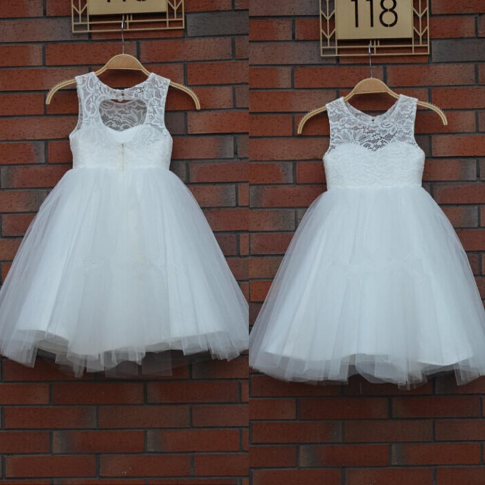 2017 New Arrival Real Flower Girl Dresses Keyhole Communion Party Pageant Dress For Little Girls Kids/Children Dress For Wedding