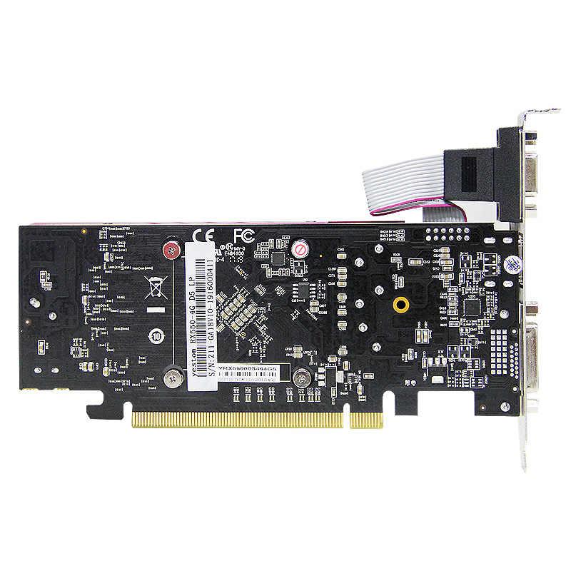 Tarjeta gráfica de escritorio con ranura única, tarjeta gráfica VGA + HDMI + DVI-D, de Yeston rafon RX550, 4GB, GDDR5, PCI Express 3,0 DirectX12