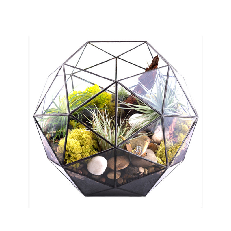 Geometric Glass Terrariums for Home/Office/Wedding Decoration, Creative Geodesic Dome Terrariums for Plants/Succulents/Flowers