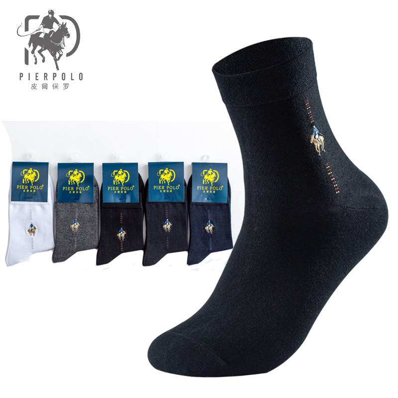 2019 New Pier Polo Autumn And Winter Men Cotton Sock Authentic men 39 s business suit dress socks happy high socks gifts for man in Men 39 s Socks from Underwear amp Sleepwears