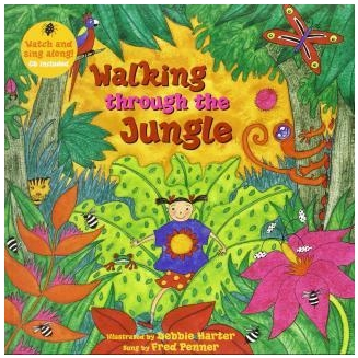 Walking Through The Jungle English Story Reading Books For Children Kids Baby > 3 Years Old Educational Toys