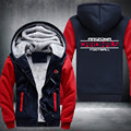 Football Team Red Dark Men Women Thicken Fleece Zipper Hoodie Jacket Clothing Casual Coat USA size