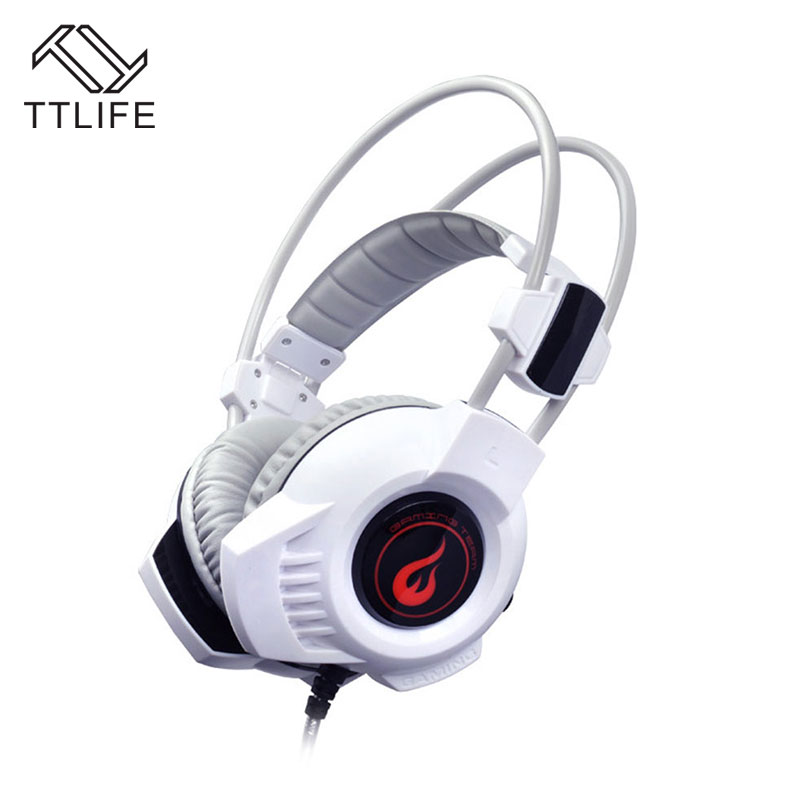 TTLIFE Professional Gaming Headphone Deep bass Adjustable Stereo Sound Headset With 3.5mm Audio Cable with mic For PC Gamer LOL
