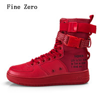 2018 Personality High Top Couple Boots Fashion Solid Color Cool Street Skateboarding Shoes Anti skid Sole Outdoor Sports Shoes