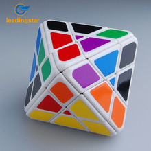 LeadingStar magico cube Octahedral Skewb Diamond 4 Layer Plastic Magic Cube White Educational Twisty Toy for