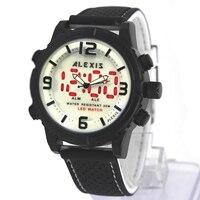 Relojes para hombre  reloj led montre homme horloge mannen  banda negra de silicona