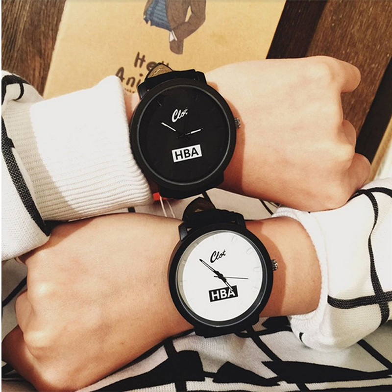 NEW Fashion leather strap unisex watches men High quality quartz women dress watch sports military relojes geneva wristwatch stylish unisex quartz watches men sports watches denim fabric women dress watch news paper wristwatch design hours
