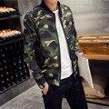 Новый 2016 военный стиль моды камуфляж стоять воротник тонкий куртку мужчины манто homme мужская одежда плюс размер м-5xl/JK16