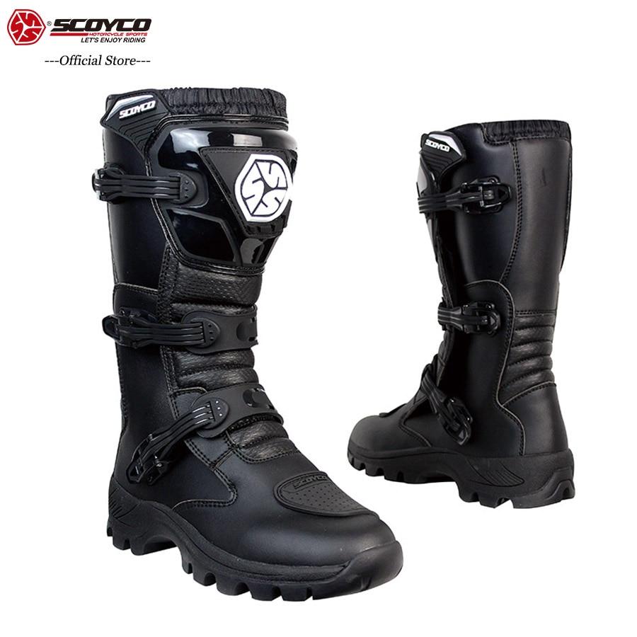 Motorrad-stiefel Scoyco Motorrad Stiefel Wasserdicht Leder Moto Stiefel Männer Motocross Stiefel Motorrad Schutz Motorrad Lange Oberschenkel Stiefel # Um Jeden Preis