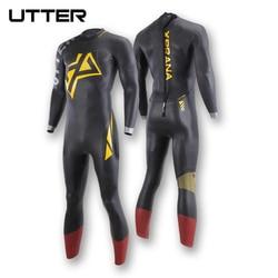 UTTER Xprana 5/3mm Triathlon Surfing Wetsuit  Fullsleeve Smoothskin Yamamoto Neoprene for Open Water Swimming Ironman