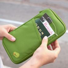Travel Passport torba wielofunkcyjna Organizator dokumentu portfel bilet dowód osobisty posiadacz karty Passport Bag tanie tanio Akcesoria podróżne CL0083 Stałe Oxford 25cm Z 108g 13cm Portfele paszportowe 2 cm Zielony różowy wino czerwone etc