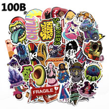 100pcs Phone Office Laptop Stickers On Laptop Toys for Children Car Trolley Case Trunk Guitar Graffiti Stikers(China)