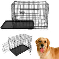 2016 Rushed Time Limited NewX Large 48 Collapsible Metal Pet Puppy Dog Cage Crate Tray Kennel