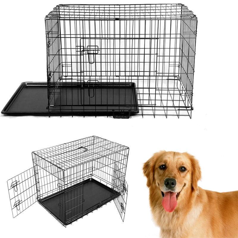 2018 Rushed Time-limited Newx-large 48'' Collapsible Metal Pet Puppy Dog Cage Crate Tray Kennel Portable ruff maxx wire dog crate 36lx26wx26 5h