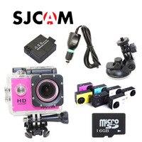 Original SJCAM SJ4000 1080P 60FPS Sport Action Waterproof Camera+Free Battery+16GB Class10 Micro TF card+Car Charger+Holder