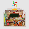Handmade Doll House Diy miniature Wooden Dollhouse miniaturas Furniture House Doll Toys For Children Birthday Gift M017