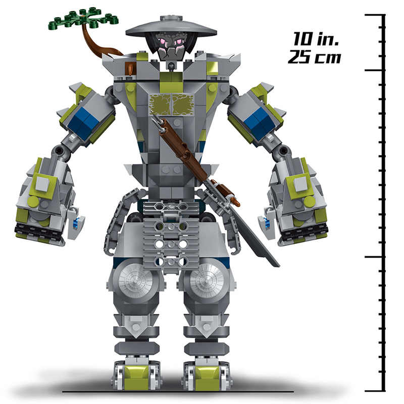 565Pcs Oni Titan Warrior Robots Building Blocks Compatible Legoinglys Brands friends Bricks Model Kits Figure Toys for Children