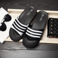 2017 Famous Brand Designer Casual Plaid Stripes Men Sandals Slippers Summer Fashion Men Outdoor Casual Beach Shoes Flip flops