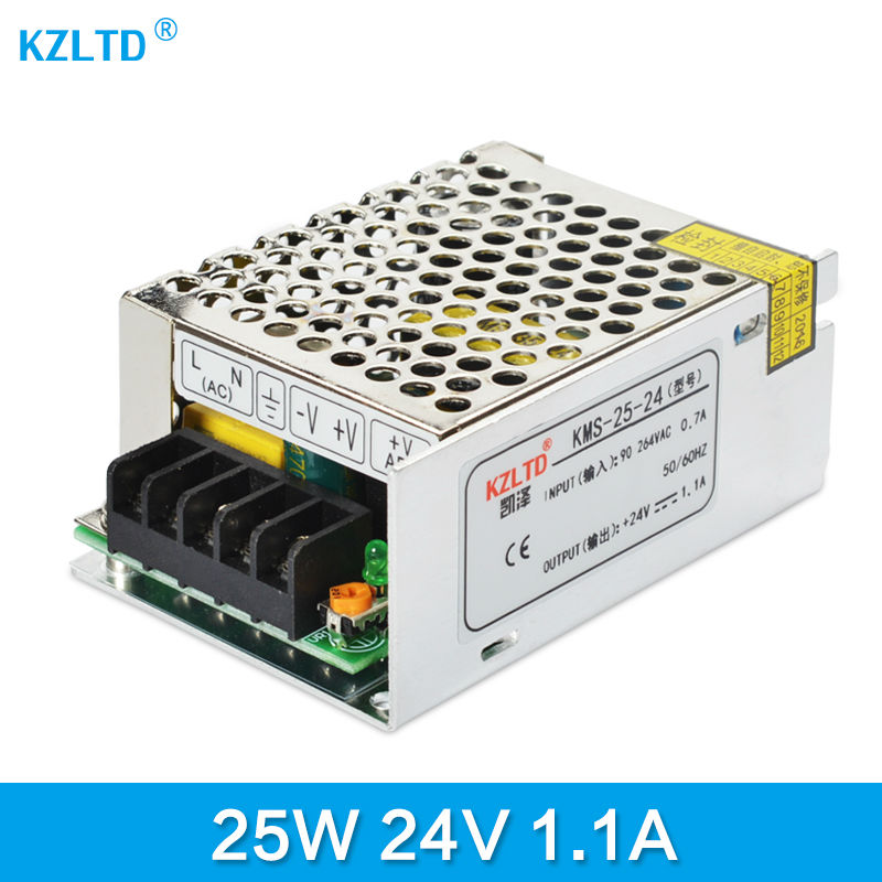 24V 1A 25W Switched-mode Power Supply AC-DC 110V / 220V to 24V LED Transformer Adapter for CCTV Computer Project Monitor