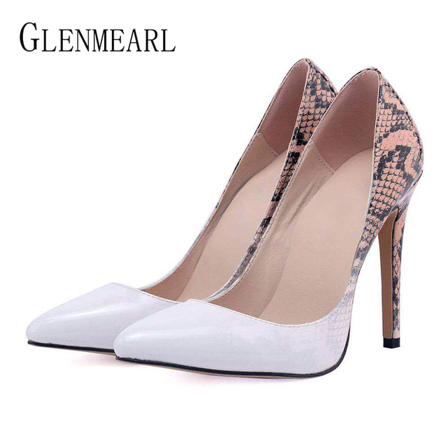 5ae8365523 Brand Women Pumps High Heels Female Shoes Spring Autumn Ladies Shoe New  Pointed Toe Wedding Shoes Woman Plus Size Party Heels DE