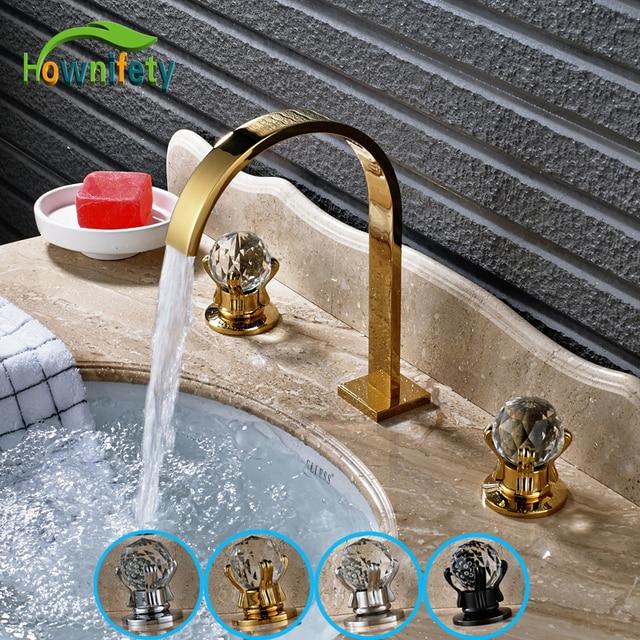 Aliexpress.com : Buy Widespread 3pcs Solid Brass Bathroom Sink ...